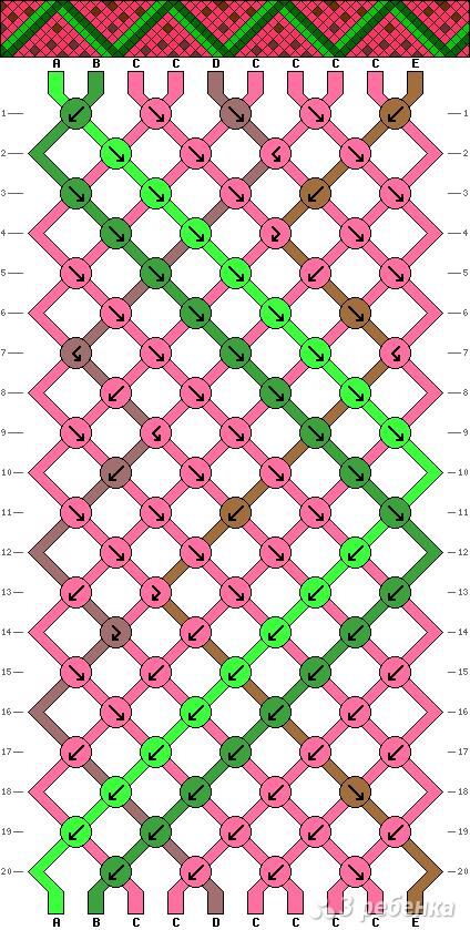 Схема фенечки 5157