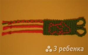 Схема фенечки прямым плетением 6229