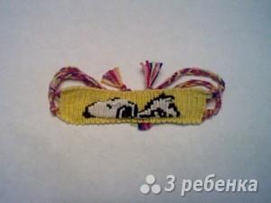Схема фенечки прямым плетением 5651