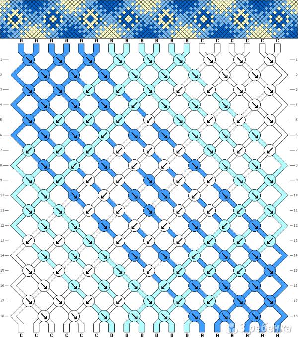 Схема фенечки 4987
