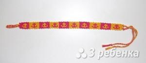 Схема фенечки прямым плетением 6605