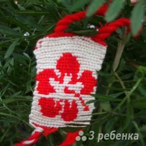 Схема фенечки прямым плетением 5793