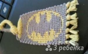 Схема фенечки прямым плетением 5832