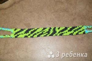 Схема фенечки прямым плетением 5551