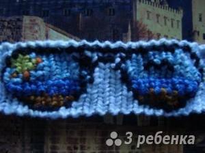Схема фенечки прямым плетением 6313