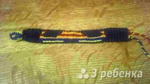 Схема фенечки прямым плетением 5511