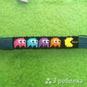 Схема фенечки прямым плетением 5580