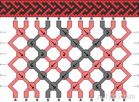 Схема фенечки 5106