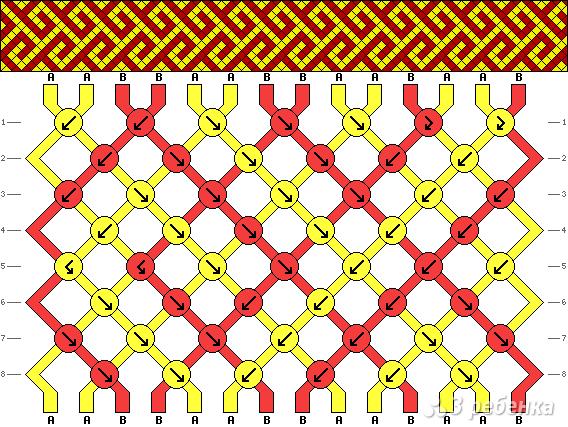 Схема фенечки 5023