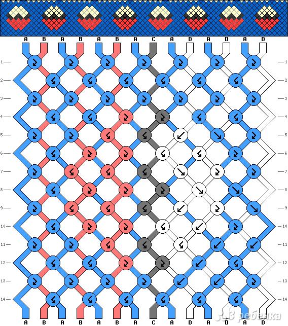 Схема фенечки 5015