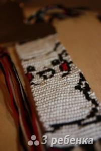 Схема фенечки прямым плетением 6140