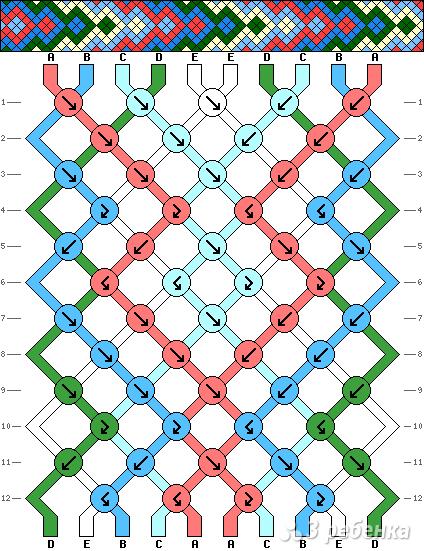Схема фенечки 4999