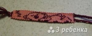 Схема фенечки прямым плетением 5975