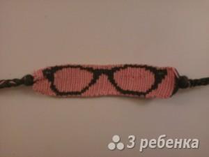 Схема фенечки прямым плетением 5873