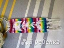 Схема фенечки прямым плетением 6328
