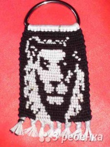 Схема фенечки прямым плетением 6555