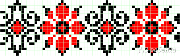 Схема фенечки прямым плетением 6272
