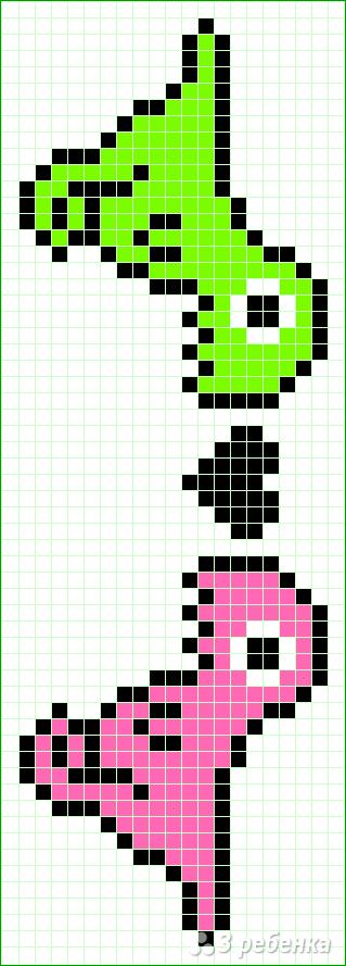Схема фенечки прямым плетением 6200
