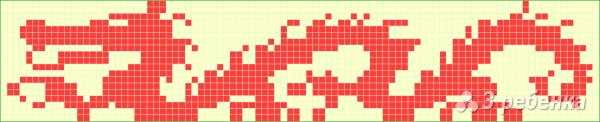 Схема фенечки прямым плетением 5852