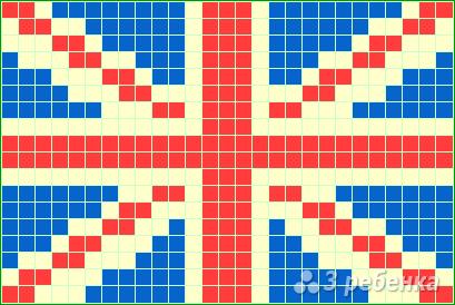 Схема фенечки прямым плетением 6133