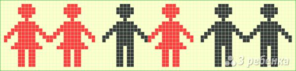 Схема фенечки прямым плетением 6550