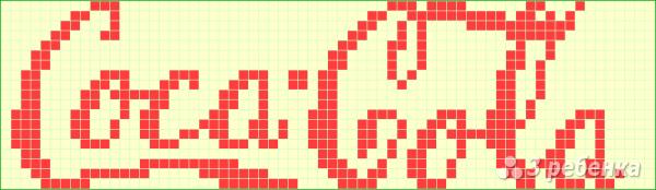 Схема фенечки прямым плетением 6041