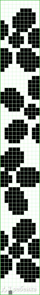 Схема фенечки прямым плетением 5885