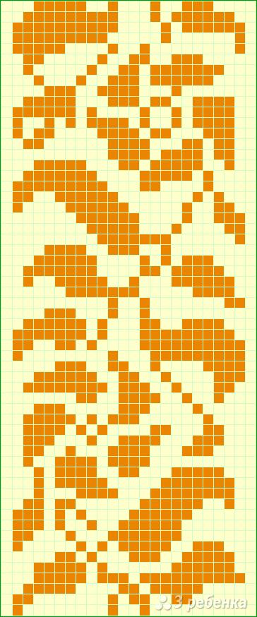 Схема фенечки прямым плетением 6384