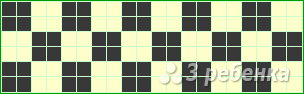 Схема фенечки прямым плетением 6048