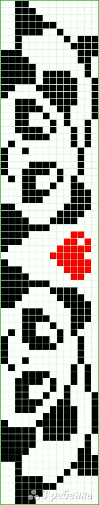 Схема фенечки прямым плетением 5734