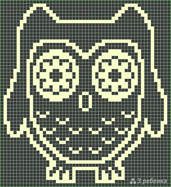 Схема фенечки прямым плетением 6565