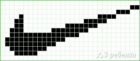 Схема фенечки прямым плетением 6490
