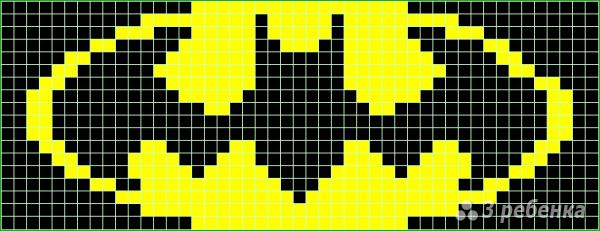 Схема фенечки прямым плетением 6070