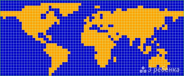 Схема фенечки прямым плетением 6242
