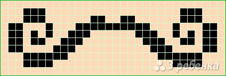 Схема фенечки прямым плетением 6191