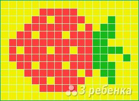 Схема фенечки прямым плетением 6466
