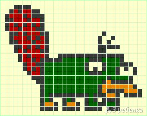 Схема фенечки прямым плетением 6612