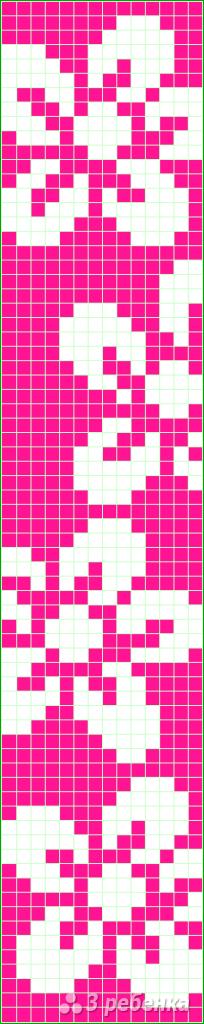 Схема фенечки прямым плетением 5609