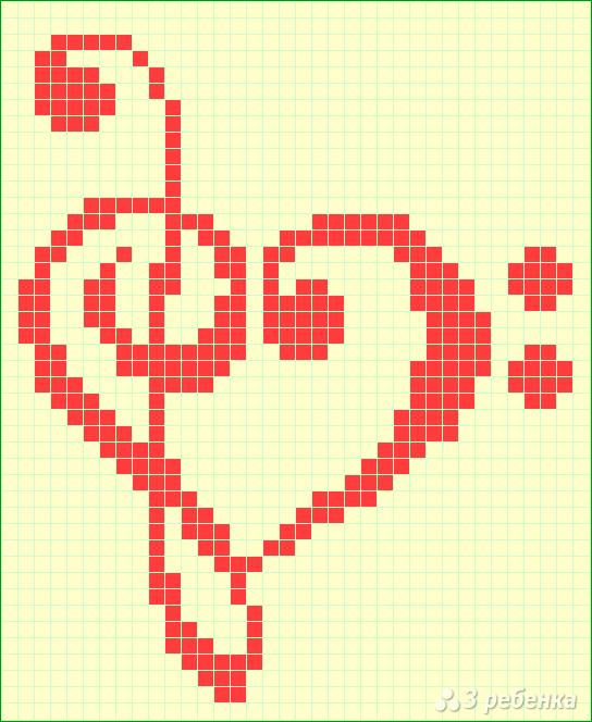 Схема фенечки прямым плетением 6033