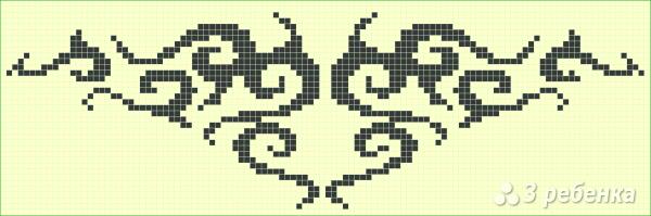 Схема фенечки прямым плетением 6289