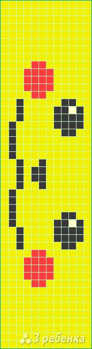 Схема фенечки прямым плетением 5933