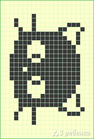 Схема фенечки прямым плетением 6358