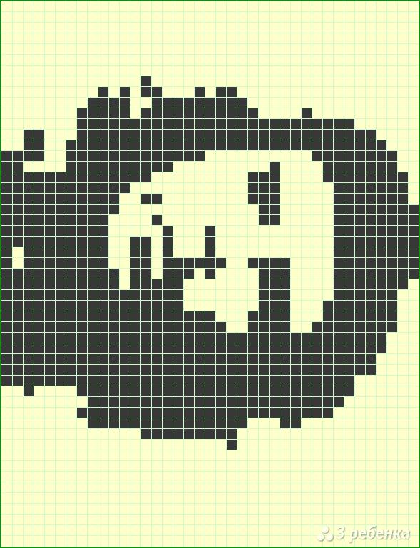 Схема фенечки прямым плетением 6432