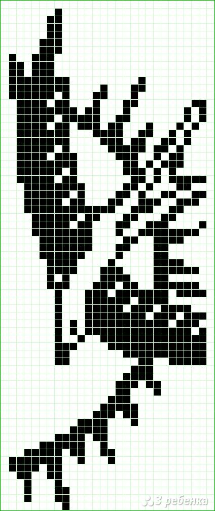 Схема фенечки прямым плетением 6544