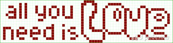 Схема фенечки прямым плетением 6015