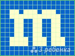 Схема фенечки прямым плетением 5598