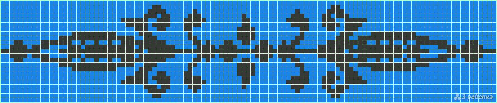 Схема для плетения фенечек с рисунком
