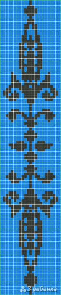 Схема фенечки прямым плетением 6524