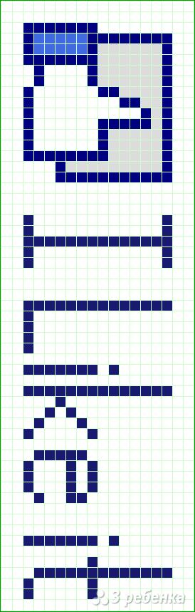 Схема фенечки прямым плетением 6209