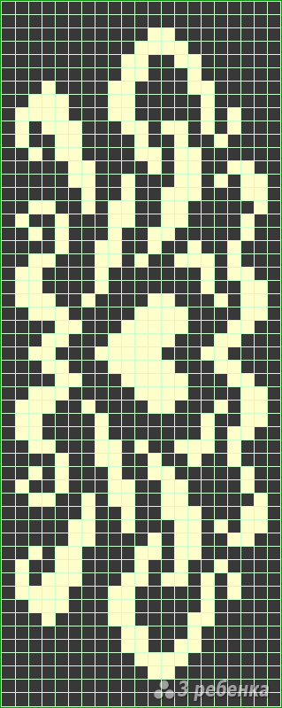 Схема фенечки прямым плетением 6095